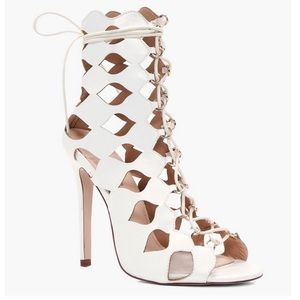 White caged sandals - 8